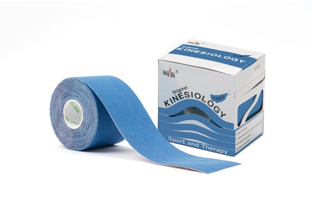 Nasara Kinesiology Tape 5cm x 5m - Mittelblau
