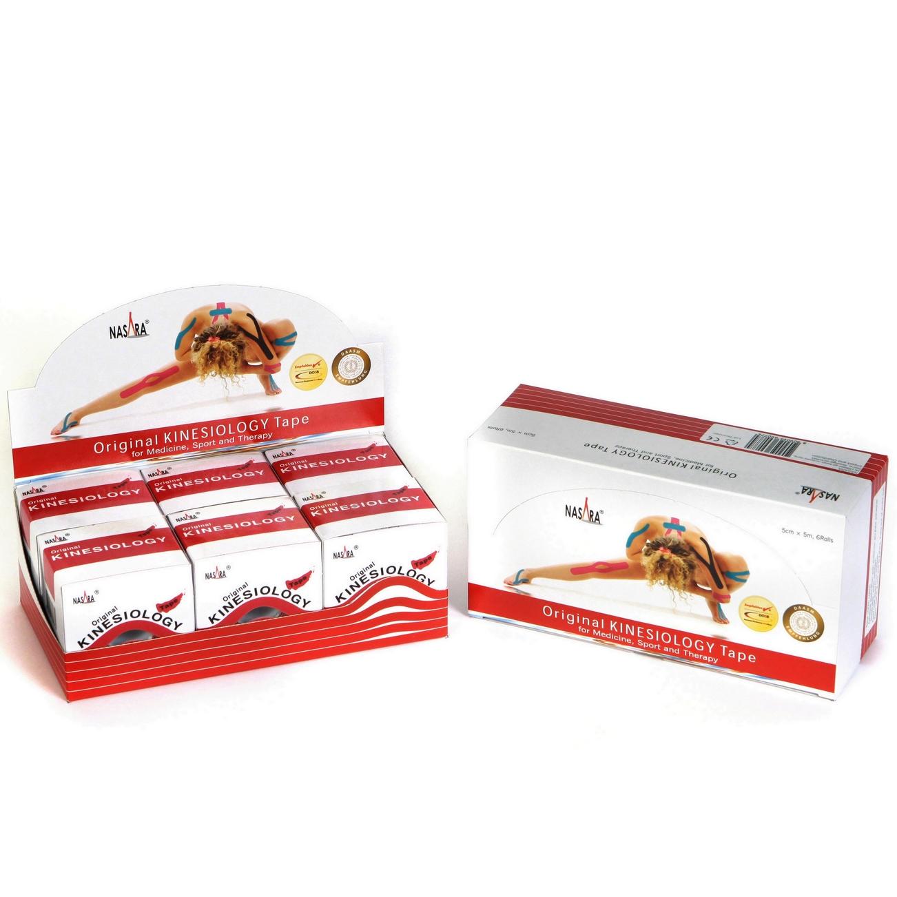 Nasara Kinesiology Tape 6er Box - Rot
