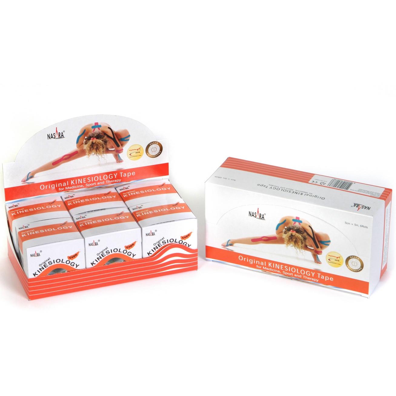 Nasara Kinesiology Tape 6er Box - Orange