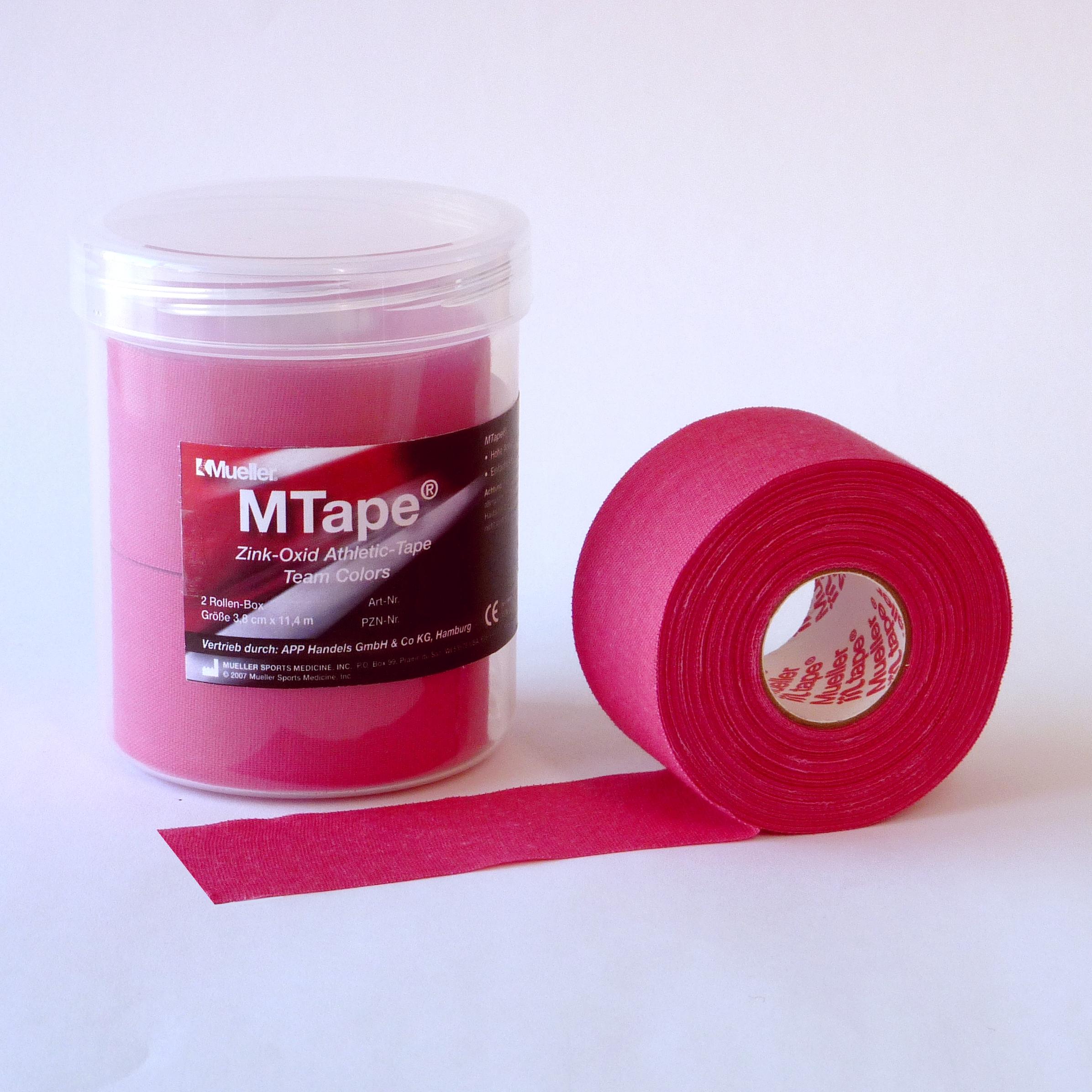 Mueller M-Tape 3,8cm 2-Rollen-Box - Pink
