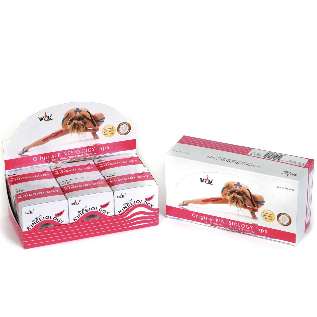 Nasara Kinesiology Tape 6er Box - Pink