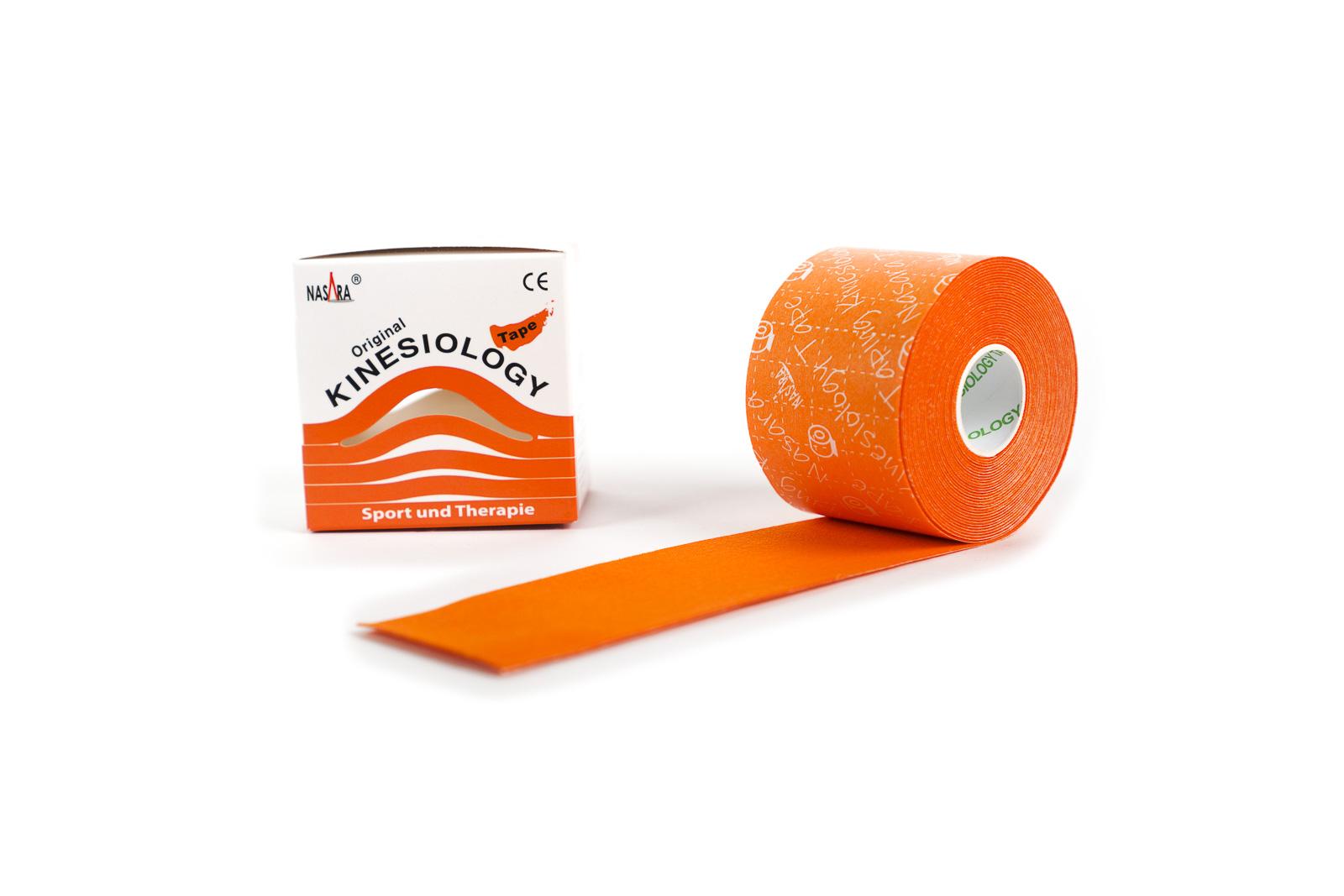 Nasara Kinesiology Tape 5cm x 5m Orange