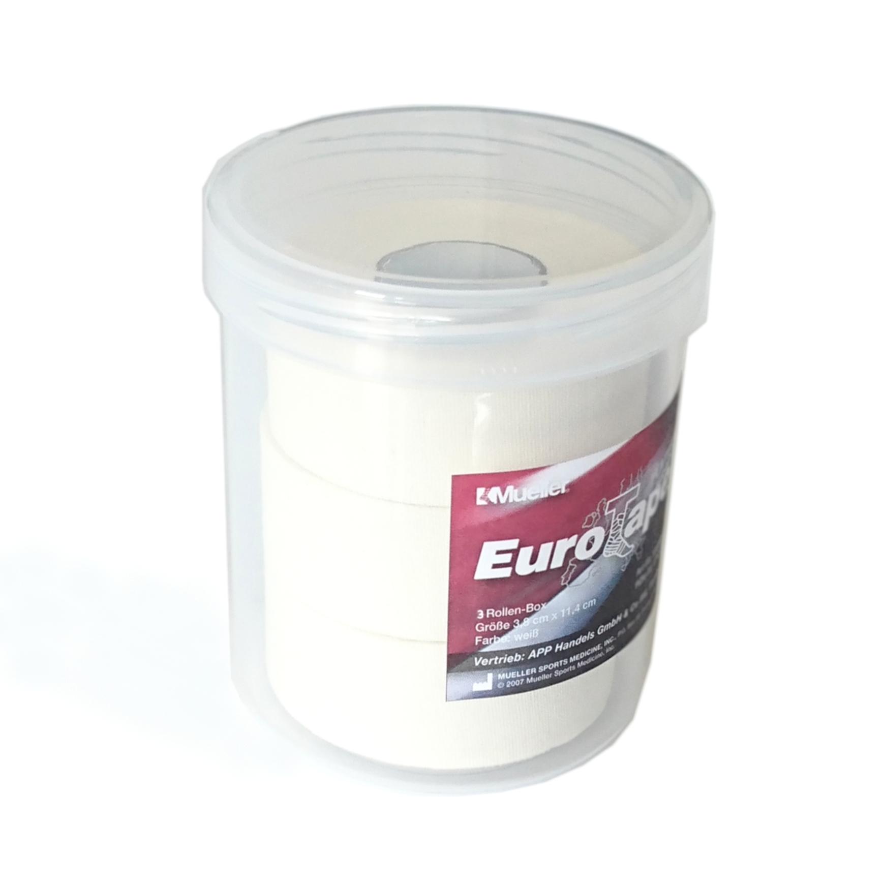Mueller Platinum Euro Tape - Rollen-Box - 2,5cm