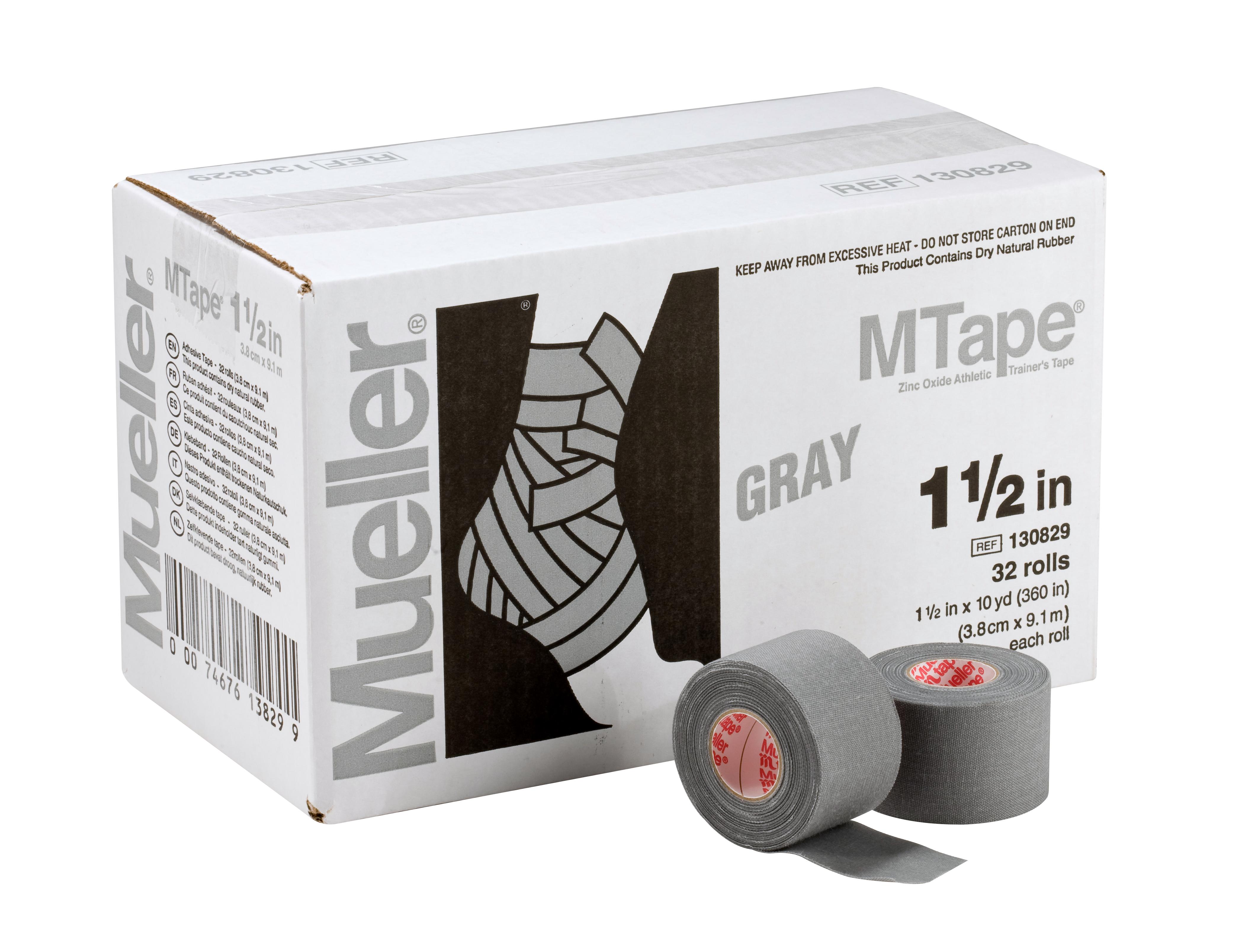 Mueller M-Tape 3,8cm - Grau 32 Rollen