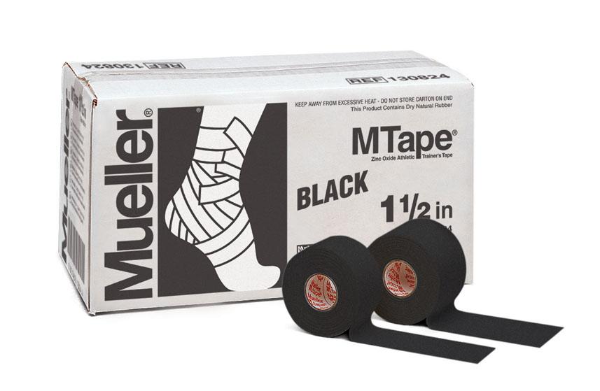 Mueller M-Tape 3,8cm - Schwarz 32 Rollen