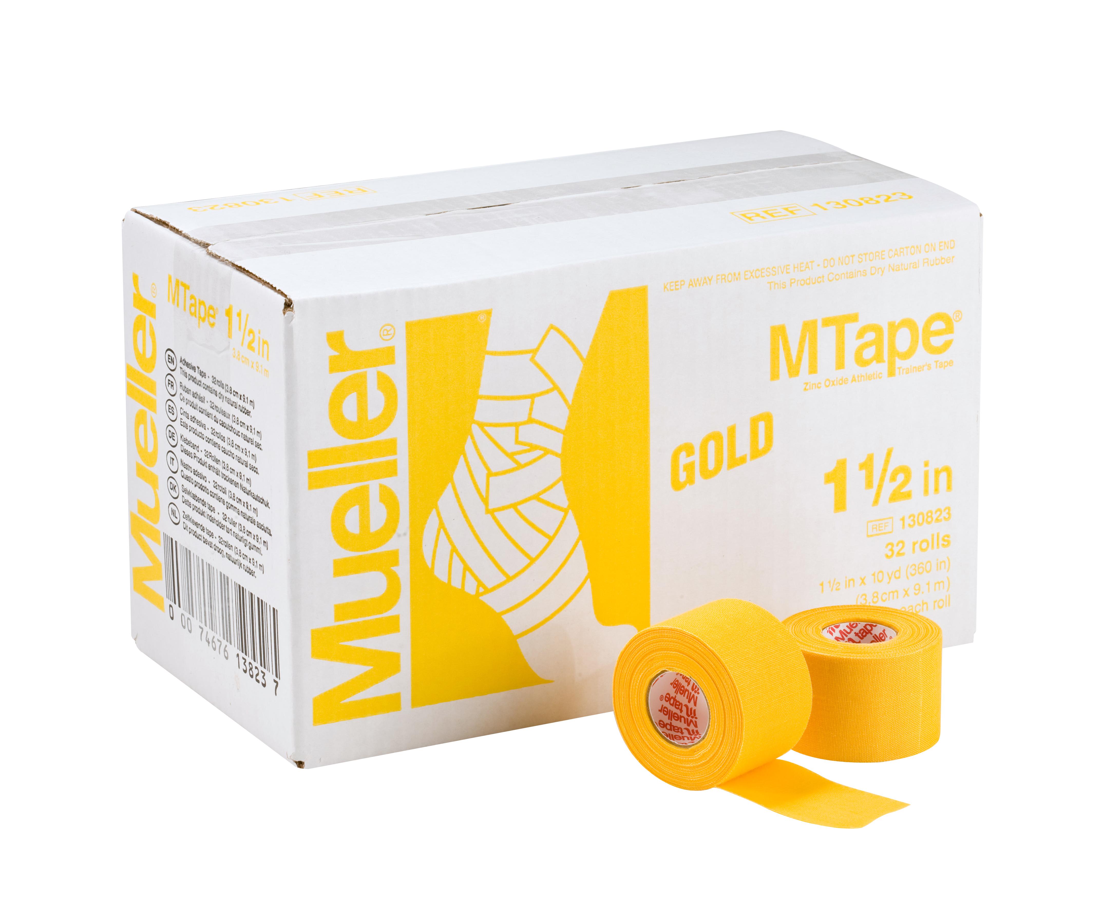 Mueller M-Tape 3,8cm - Gelb 32 Rollen
