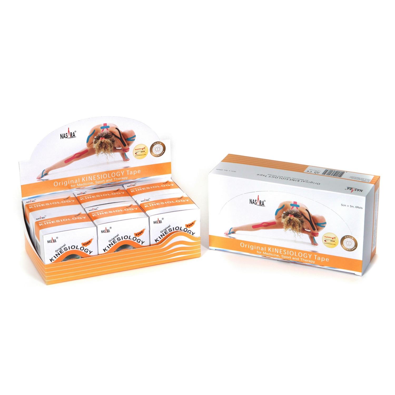 Nasara Kinesiology Tape 6er Box - Beige