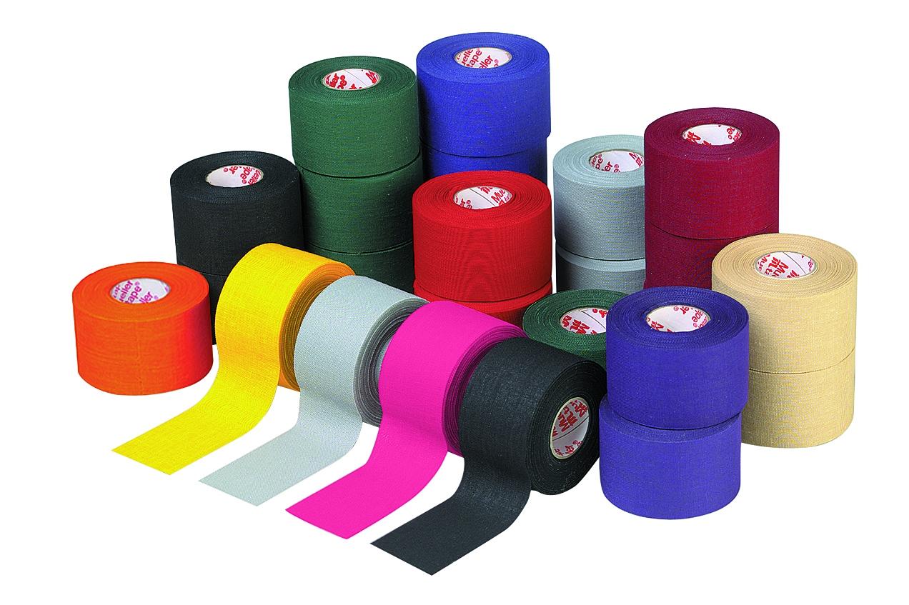 Mueller M-Tape farbiges Sporttape 3,8cm - Schwarz